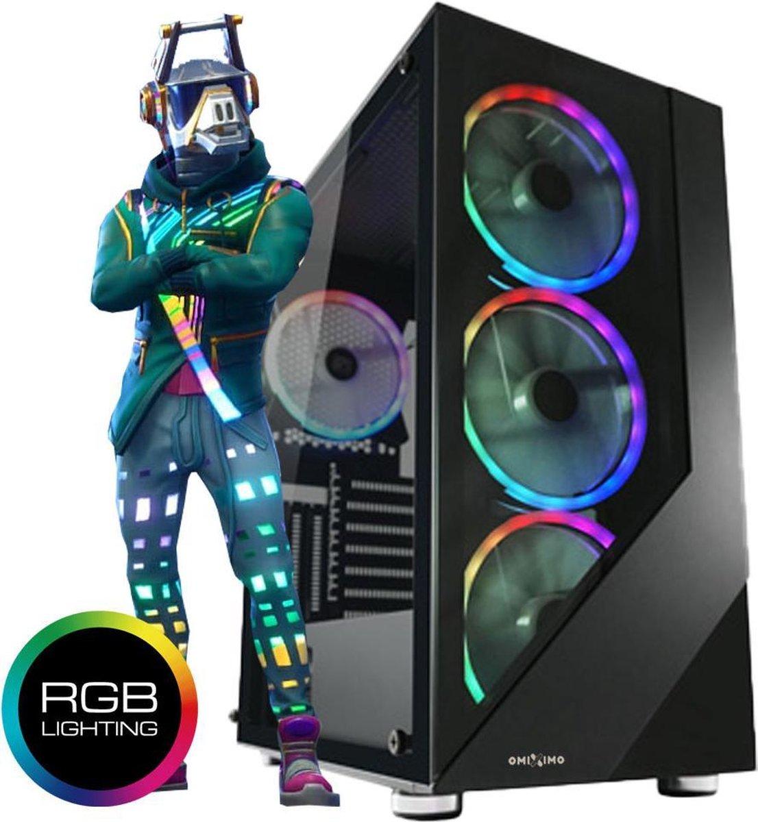 omiXimo | Game PC - AMD Ryzen 5 - GTX1650 Videokaart - 16 GB ram - 240 GB SSD | Geschikt voor: Fortnite, Minecraft, Sims 4 en League of Legends