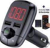 Bluetooth FM Transmitter - Autoradio - Carkit - Auto Accessories - Bluetooth Adapter - MP3 Speler - USB Stick - SD Kaart - Snellader Iphone/Samsung/Huawei - Muziek Streamen - Handsfree Bellen - Daily Logix®