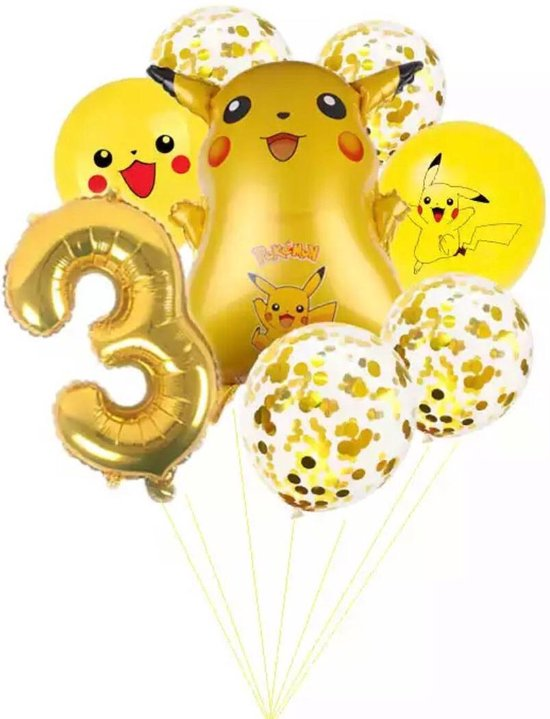 Pokemon Ballon Droom Thema Party Decoratie Benodigdheden Pikachu Verjaardagsfeestje Pocket Ballon Gift, Nummer 3