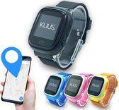 KUUS. W1 - GPS horloge kind, smartwatch voor kinderen met GPS tracker - Walkie Talkie functie - Zwart