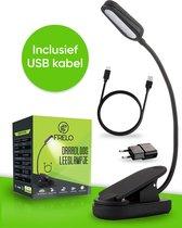 Frelo Draadloos Leeslampje Voor Boek Met klem - 3 Lichtstanden - Incl. USB Oplader