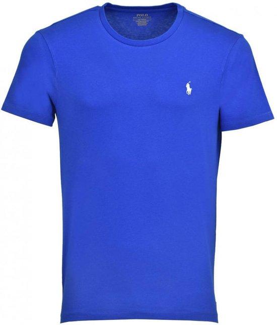 Polo Ralph Lauren T-shirt - Heren t-shirt korte mouw - Custom Fit - Crew hals - 100% katoen - Royal blue - L