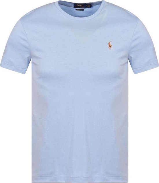 Polo Ralph Lauren T-shirt - Heren t-shirt korte mouw - Custom Fit - Crew hals - 100% katoen - Sky blue - M