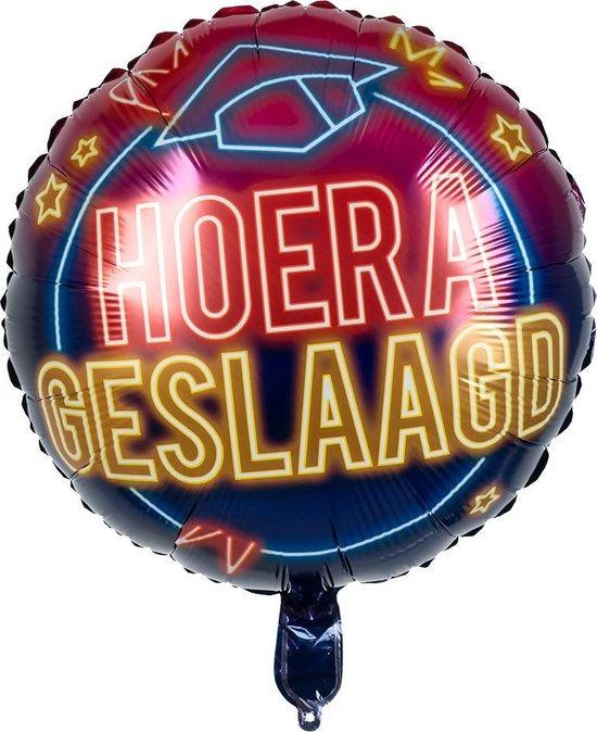 "Folieballon Neon ""Geslaagd"" 45x45 cm"