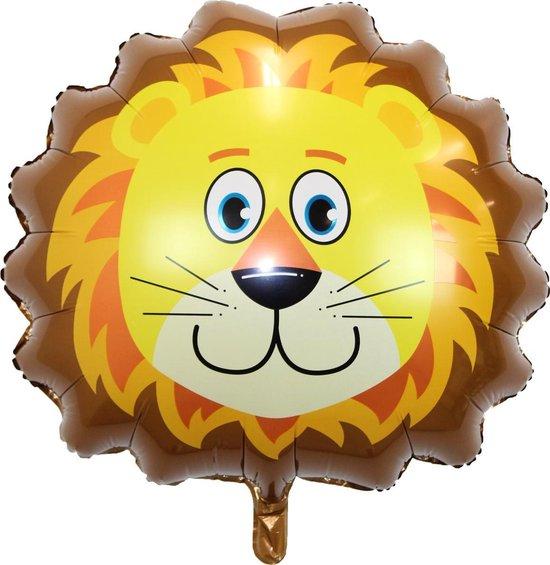 Leeuw Ballon Jungle Safari Helium Ballonnen Verjaardag Versiering Feest Decoratie XL Formaat 90 CM Met Rietje – 1 Stuk