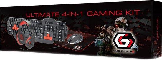 Ultimute 4 In 1 Gaming Set – Keyboard – Headset – Muis/Muismat –
