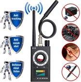 Verborgen Camera / GPS / GSM Detector – RF / Anti Spy Bug Detector – Anti Afluisterapparatuur Detector – 2021 Versie - Zwart