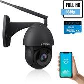 Looki® 360PRO Beveiligingscamera voor Buiten  - Full HD - IP camera - met 32GB SD-kaart & Cloud - Zwart