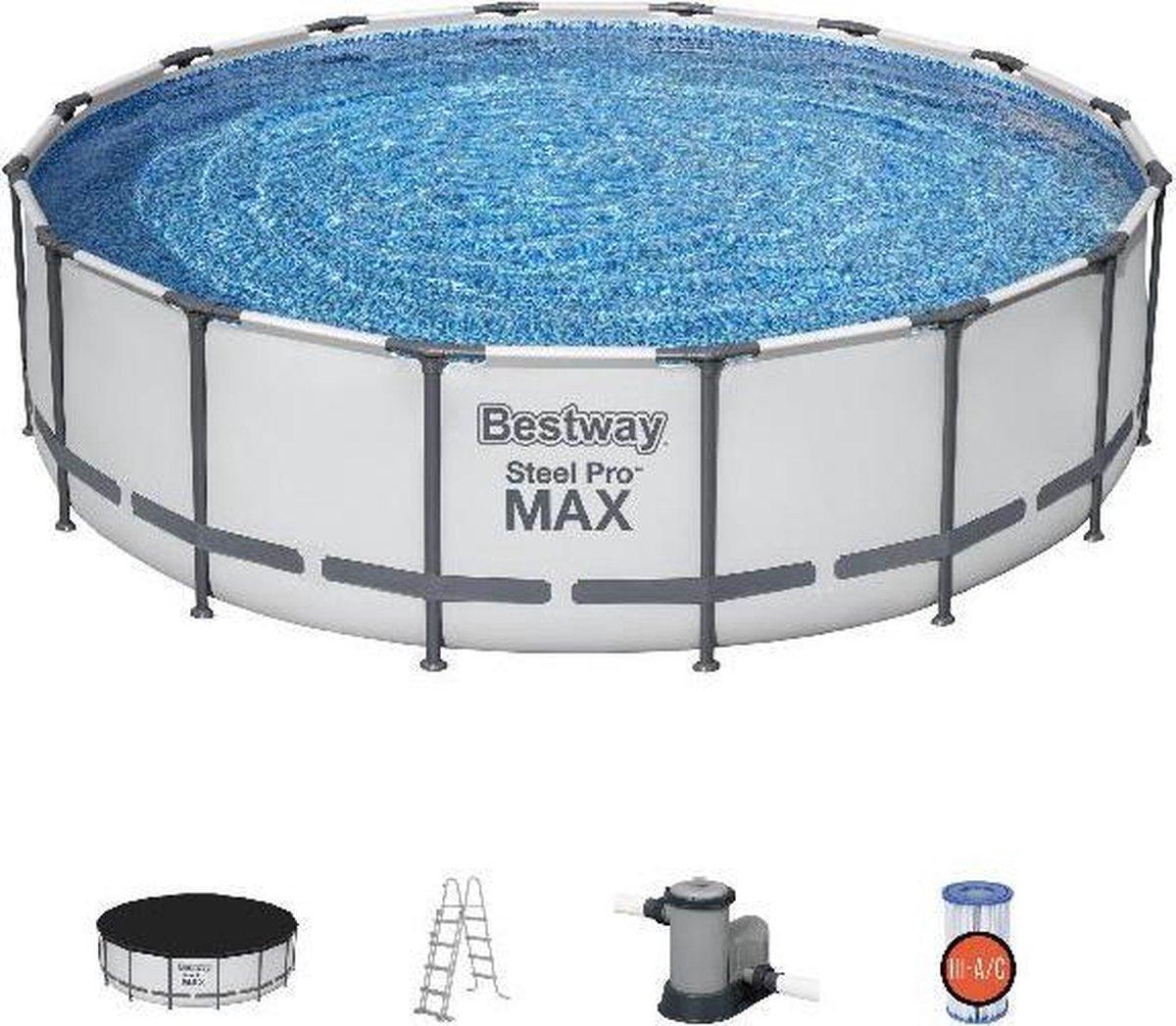 Bestway zwembad steel pro max set rond 488