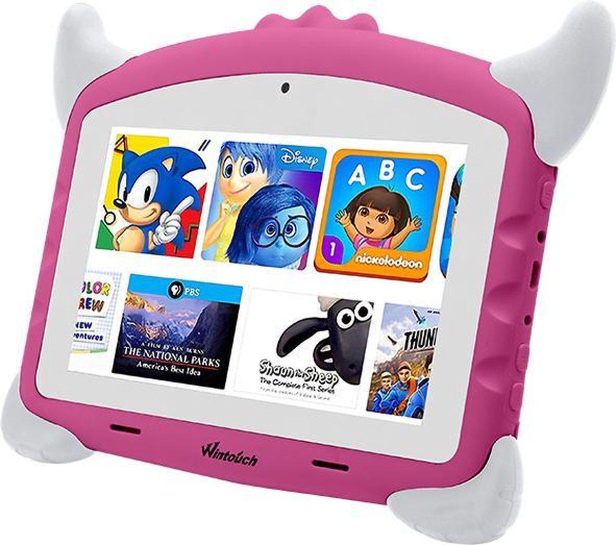 Kindertablet pro roze - kidstablet - Disney+ Netflix - Tablet 7 inch - 32GB - 8.1 android - vanaf 2 jaar - Scherp hd beeld - leerzame tablet voor kinderen - Wifi - Bluetooth - voor-achter camera - Play store - uitstekende batterij - 1 jaar garantie