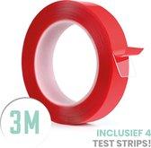 SOLITY® Dubbelzijdig Tape - Dubbelzijdig Plakband - Extra Sterk - Inclusief Extra's - Transparant - 3m x 10mm