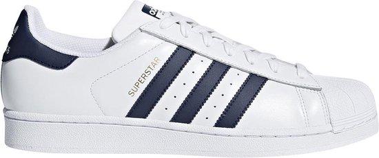 Adidas - Sportschoenen - Unisex - Superstar - white,darkblue