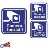 Camera toezicht sticker (set 3 stuks)