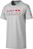PUMA Red Bull Racing Logo Tee Shirt Heren - Light Gray Heather - Maat L