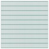 vidaXL Dubbelstaafmatten 2008 x 2030mm 30m Groen 15 stuks