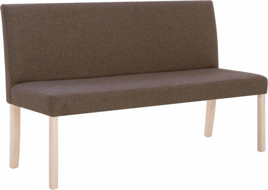 vidaXL Bankje 139,5 cm polyester bruin
