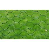 vidaXL - Kippengaas zeshoek geplastificeerd - 100 cm x 25 meter