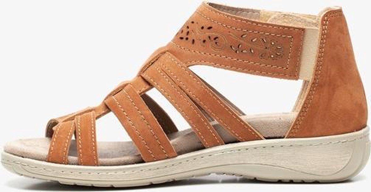 Natuform leren dames sandalen - Cognac - Maat 39 zeK9t