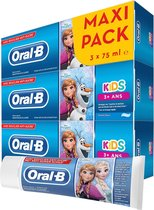 Oral-B Kids Frozen 3+ Jaar - 3x75 ml - Tandpasta
