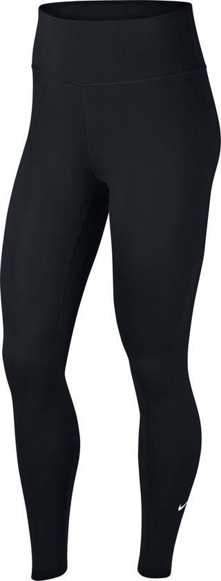 Nike W Nk All-In Tght Sportlegging Dames - Black/White - Maat XL