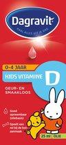 Dagravit Kids Vitamine D Olie 0-4 jaar - Multivitamine - 25ml - Druppels