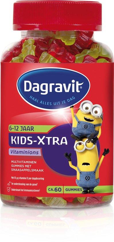 Dagravit Kids-Xtra Vitaminions 6-12 jaar - Multivitamine - Sinaasappelsmaak - 60 tabletten