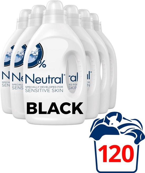 Neutral Vloeibaar Wasmiddel Zwart - 6 x 1L - Voordeelverpakking