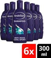Andrélon Shampoo Cool Sport Menthol - 6 x 300 ml  - Voordeelverpakking
