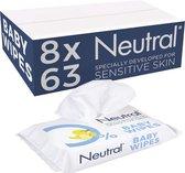 Neutral Baby Billendoekjes Parfumvrij - 8 x 63 stuks - Voordeelverpakking