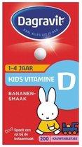 Dagravit Kids Vitamine D - Multivitamine - Bananensmaak - 200 tabletten