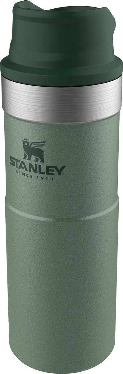 Stanley Classic Trigger-Action Thermosfles - 470 ml - RVS/Groen