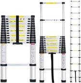 Telescopische Ladder - 13 treeds - Uitklapbaar - Werkhoogte 3.80m
