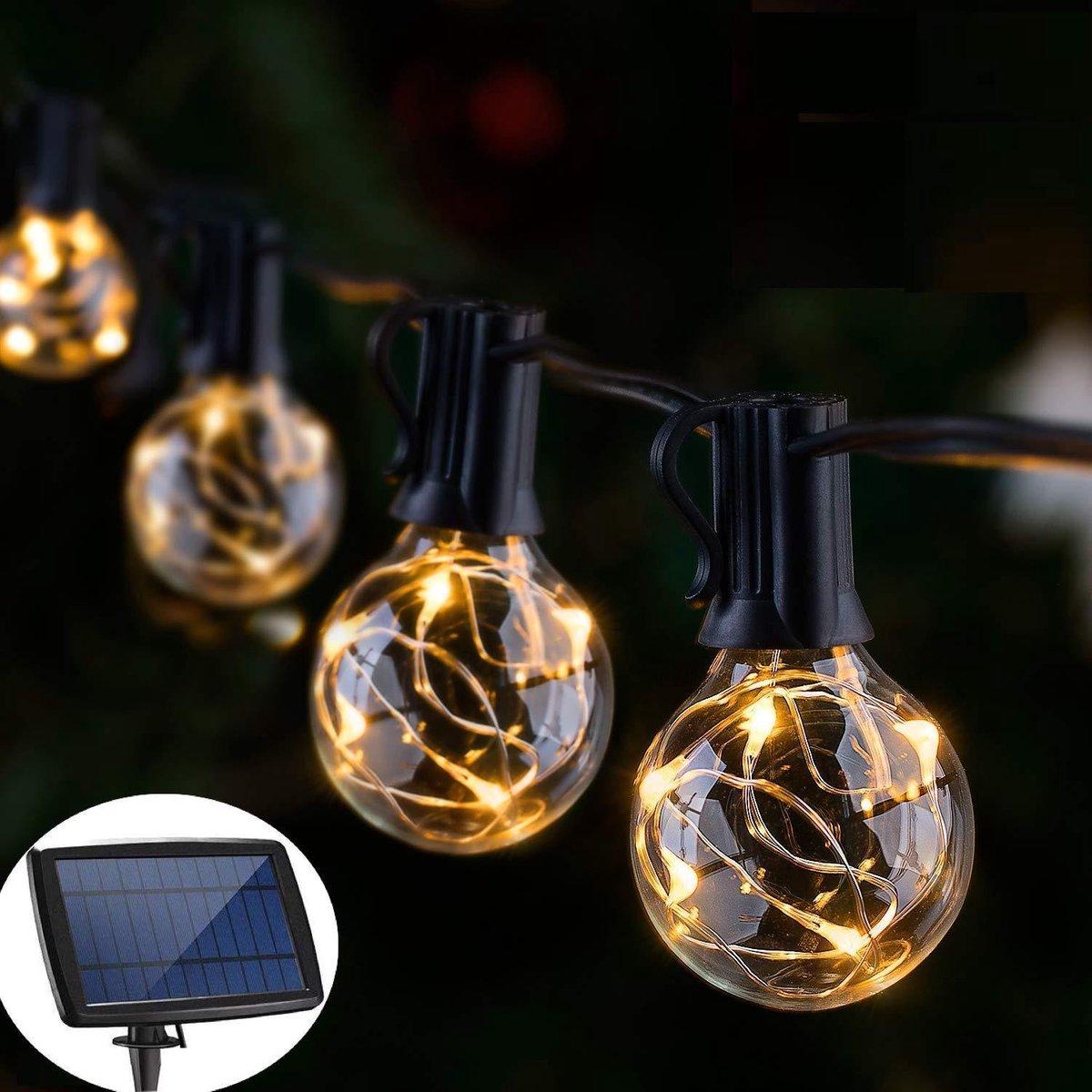 J-Pro Tuinverlichting op zonne-energie - 25 Solar Copper LED 8,5m lichtsnoer lichtslinger