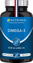 OMEGA 3 • KRILL • Visolie • Hoge Concentratie Omega 3 • NUTRIMEA • 60 capsules