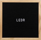 Cotton Ball Lights Letterbord zwart - Letterboard Zwart 30 x 30