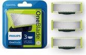 Philips OneBlade QP230/50 - Vervangmesjes - 3 stuk