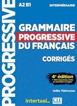 Boek cover Grammaire progressive du français- niveau intermédiaire corrigés van Thiévenaz