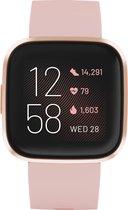 Fitbit Versa 2 - Smartwatch dames - Roze koper