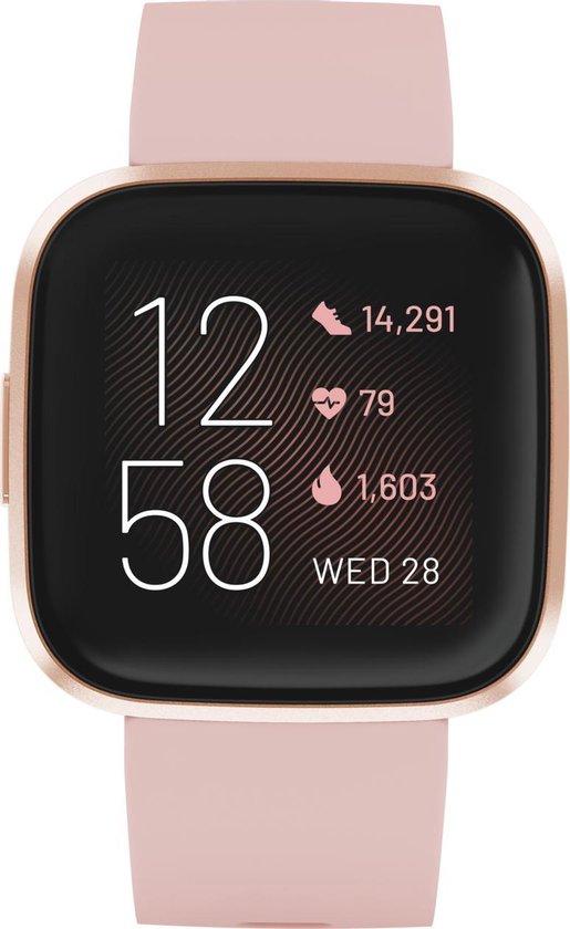 Fitbit Versa 2 - smartwatch - roze koper