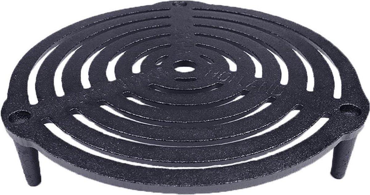 Valhal Outdoor stapelbaar grillrooster / onderzetter - VH23G - Gietijzer, diameter 23cm