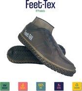 Feet Tex Regen Overschoenen - Duurzaam - Anti Slip - Waterdicht - Size: L - Zwart
