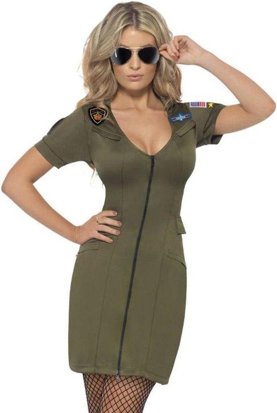 Top Gun Maverick Kostuum - Dames piloten kostuum - Maat M - 40-42