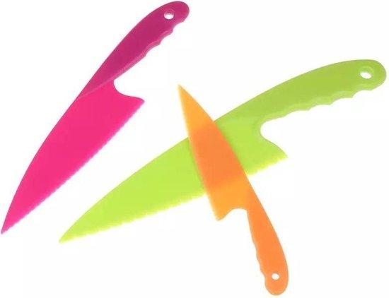 Kindermessen - Messen voor kinderen - Veiligheidsmessen - Gekleurde messenset voor kinderen - Kindermes - Kindvriendelijke messenset voor kinderen - Gekleurde messenset - Bestek voor kinderen - Kids kitchen knife