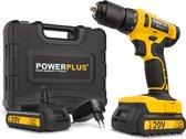 Powerplus POWX00435 Accuboormachine - 20V Li-ion -  incl. 2 accu's - incl. gereedschapskoffer