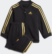 adidas I Holiday Ts Unisex Trainingspak - Top:Black/Gold Met. Bottom:Black/Gold Met. - Maat  68