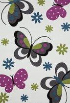 Kindervloerkleed Vlinder 772-60 Cream 120 x 170 cm.