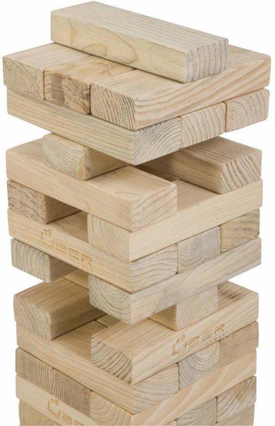 Thumbnail van een extra afbeelding van het spel Stapeltoren spel, tot 90 cm hoog, ECO pijnbomenhout