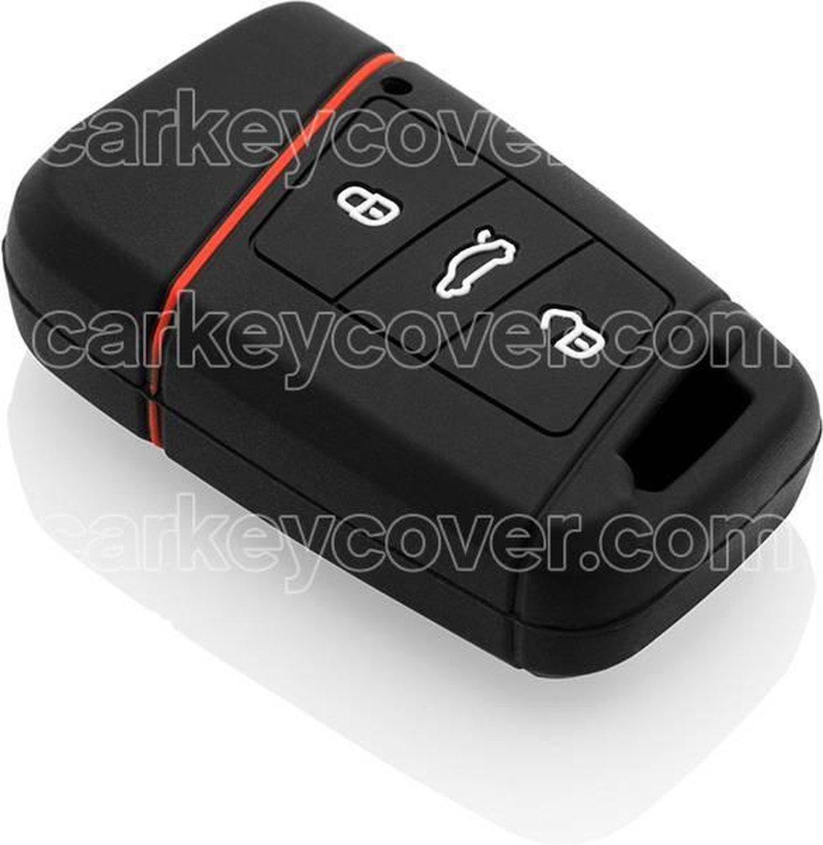 Volkswagen SleutelCover - Zwart / Silicone sleutelhoesje / beschermhoesje autosleutel