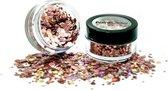 Holografische chunky glitters 3 gram Rose Gold