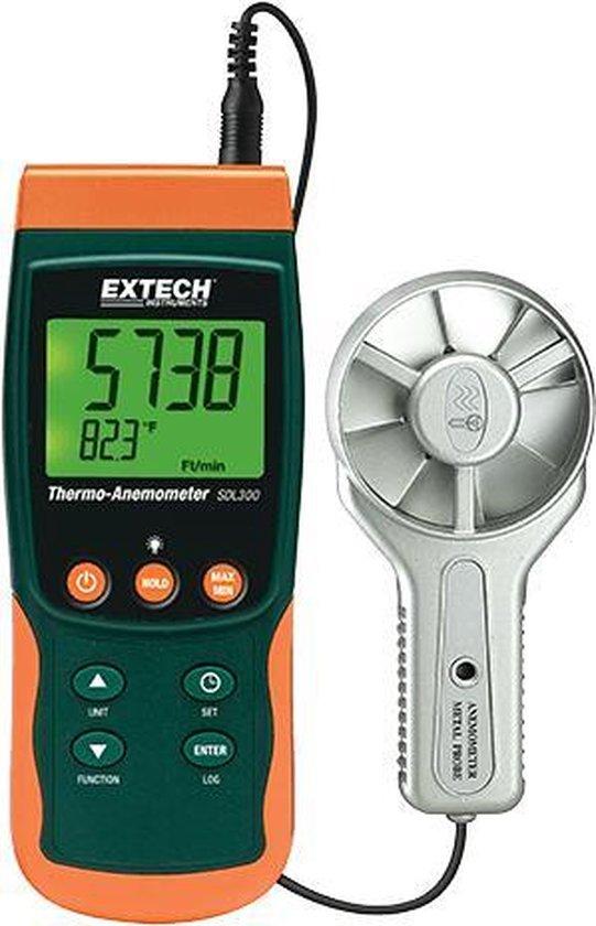 EXTECH SDL300: Metal Vane Thermo-Anemometer/Datalogger